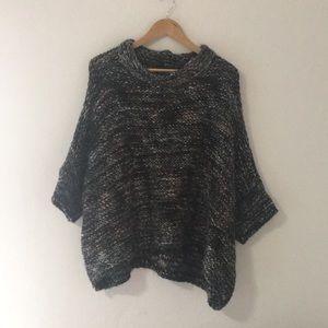 zara knit • italian yarn sweater poncho